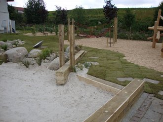 Kids playpark designed by Timberplay